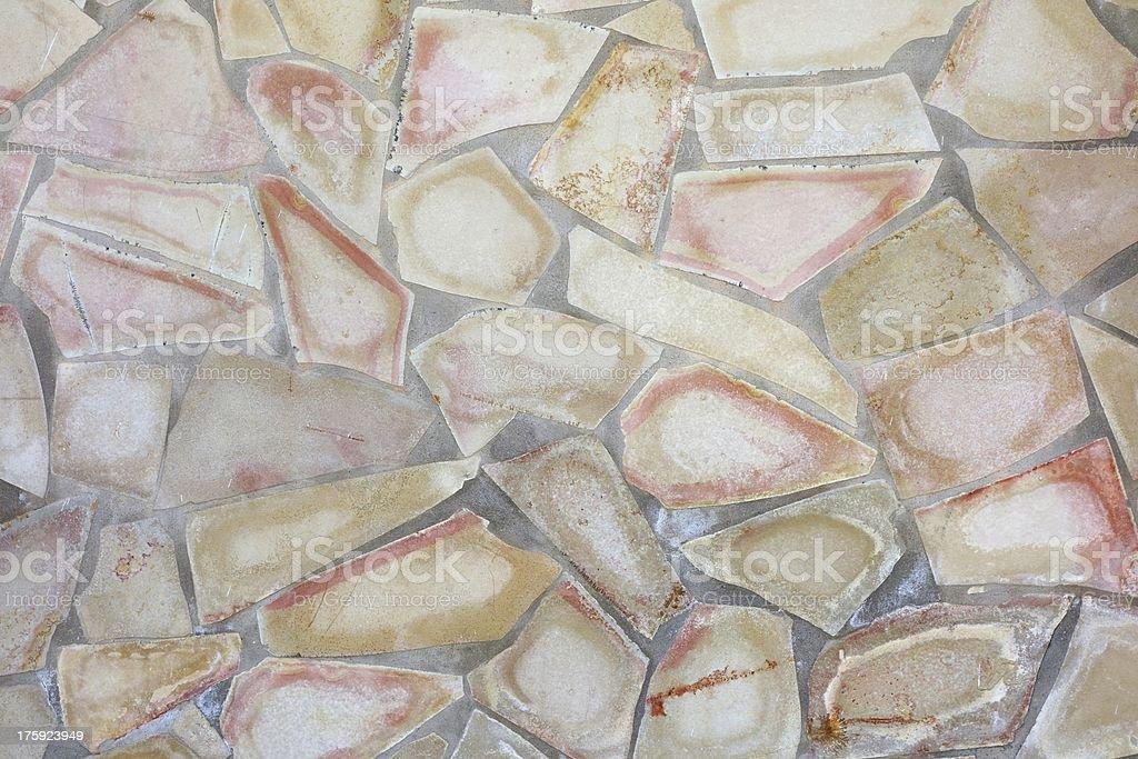 Mosaic wall royalty-free stock photo