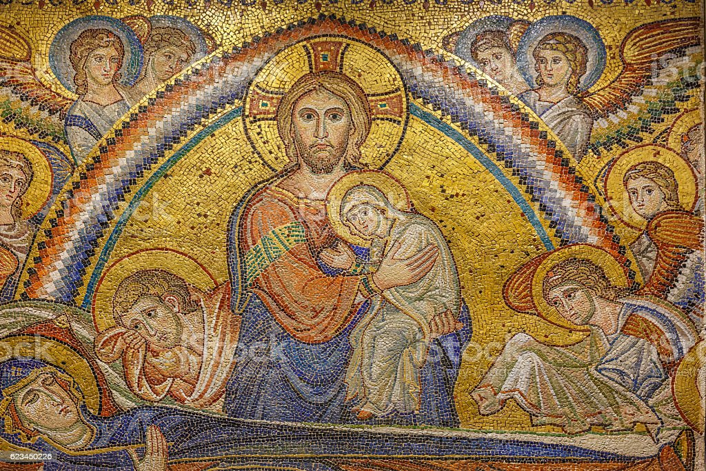 Mosaics in Ravenna, Italy stock photo