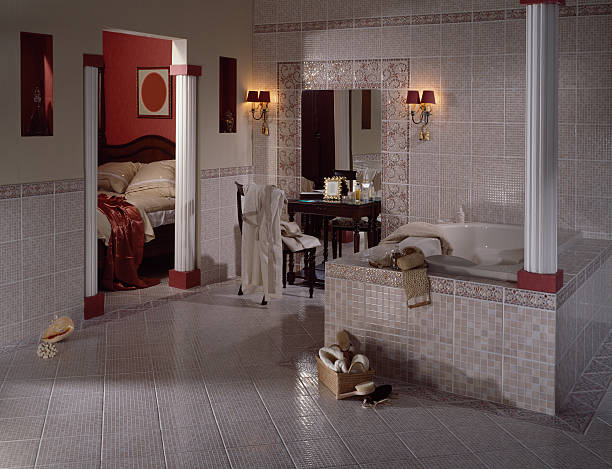 Mosaic-tiled Bathroom Luxurious designer bathroom with mosaic tiles. grifare stock pictures, royalty-free photos & images