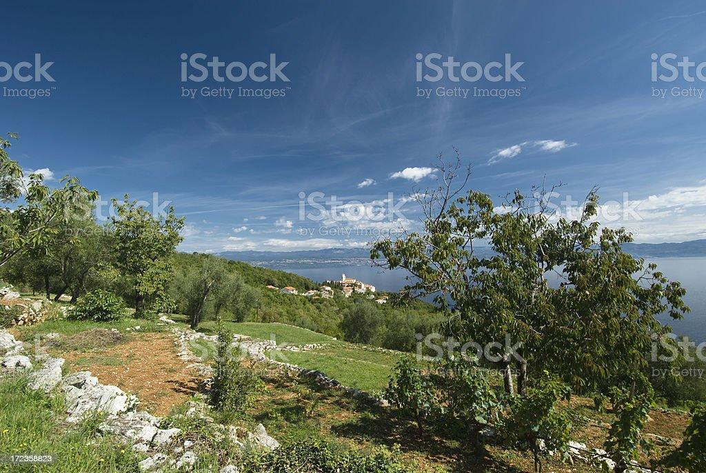 Moscenice Kvarner Bay Croatia royalty-free stock photo