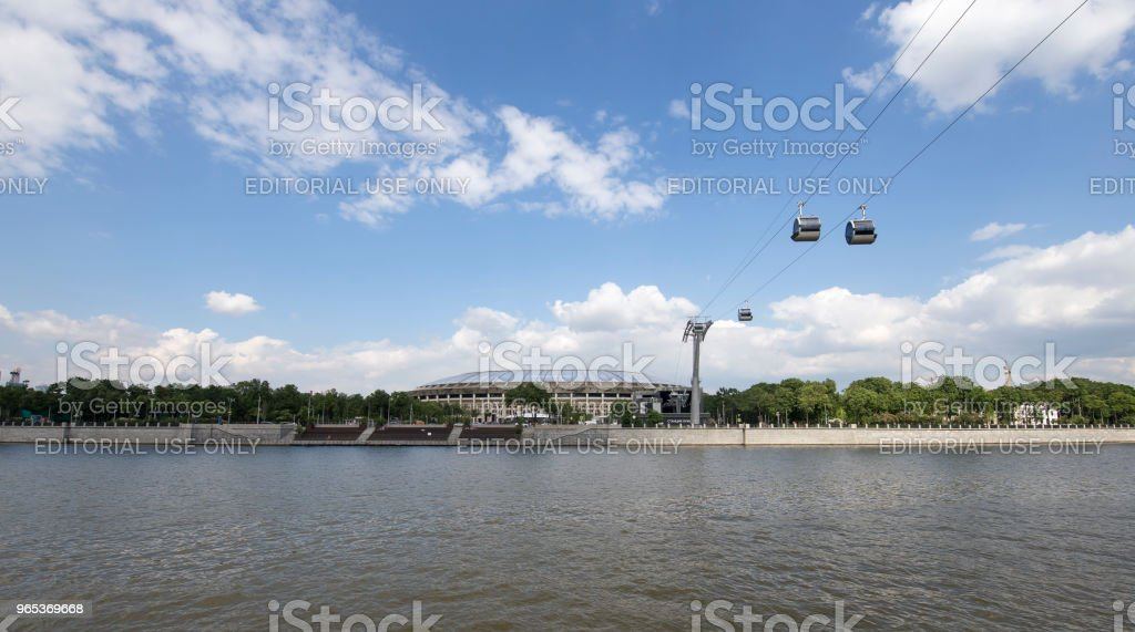 Moscou grand sport arena (stade) complexe olympique Loujniki--stade pour la Coupe du monde 2018 en Russie - Photo de 2018 libre de droits