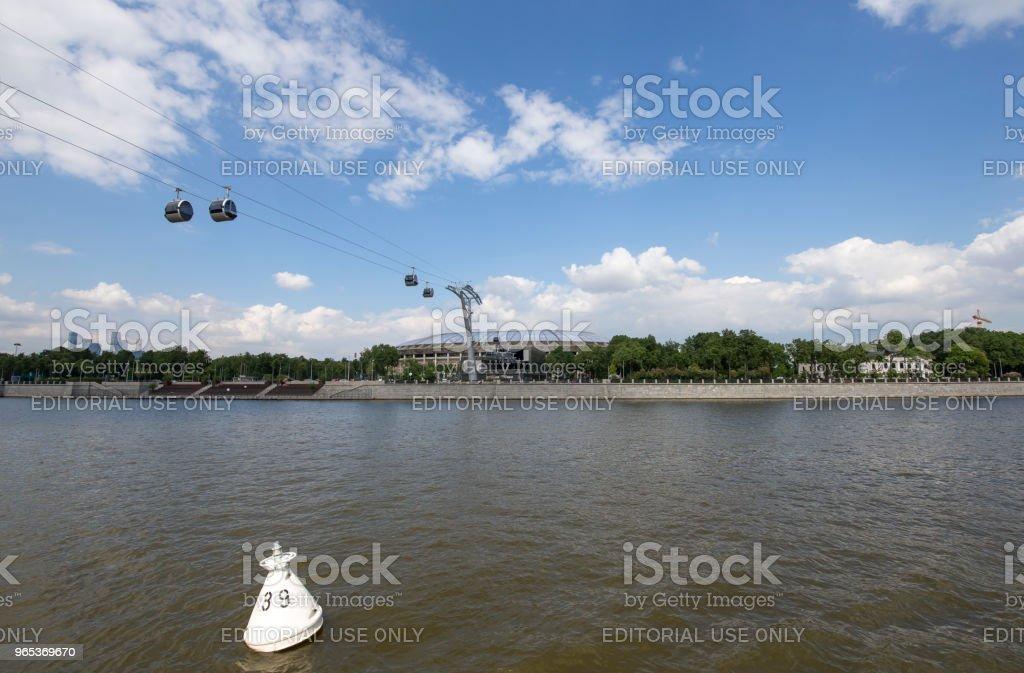 莫斯科大體育競技場 (體育場) 盧日尼基奧林匹克綜合體--2018 在俄羅斯的國際足聯世界盃體育場 - 免版稅2018圖庫照片