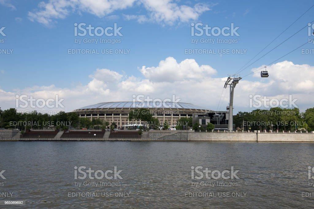 Moscow big sports arena (Stadium) Luzhniki Olympic Complex -- Stadium for the 2018 FIFA World Cup in Russia zbiór zdjęć royalty-free