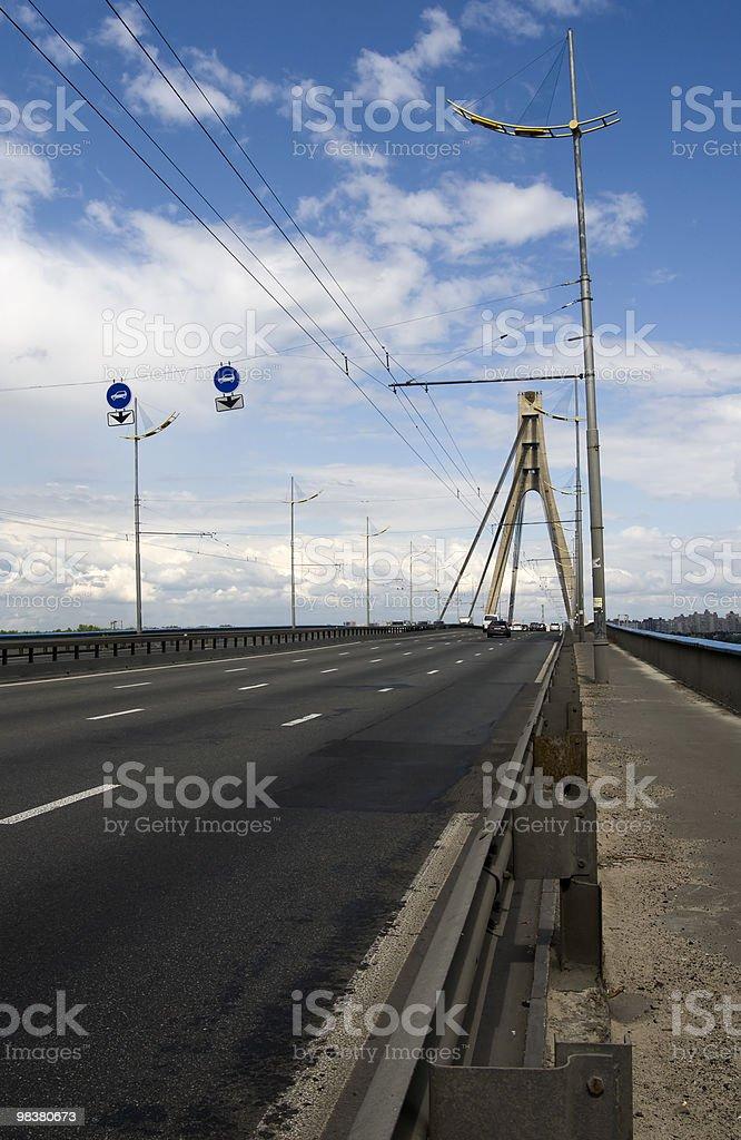Moscow bridge in Kyiv royalty-free stock photo