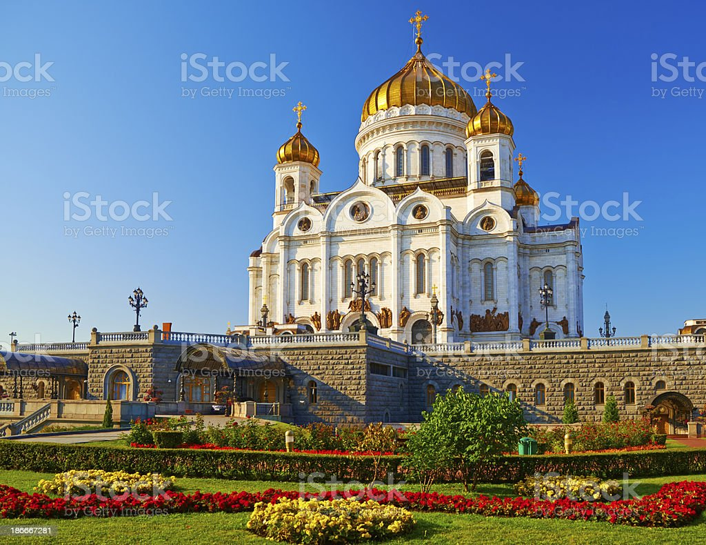 Moscow,  Cathedral of Christ the Savior. stock photo