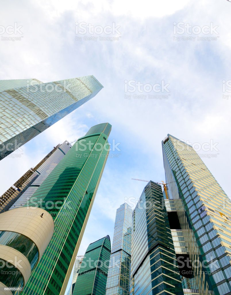 Moscow City buildings low angle view royalty-free stock photo