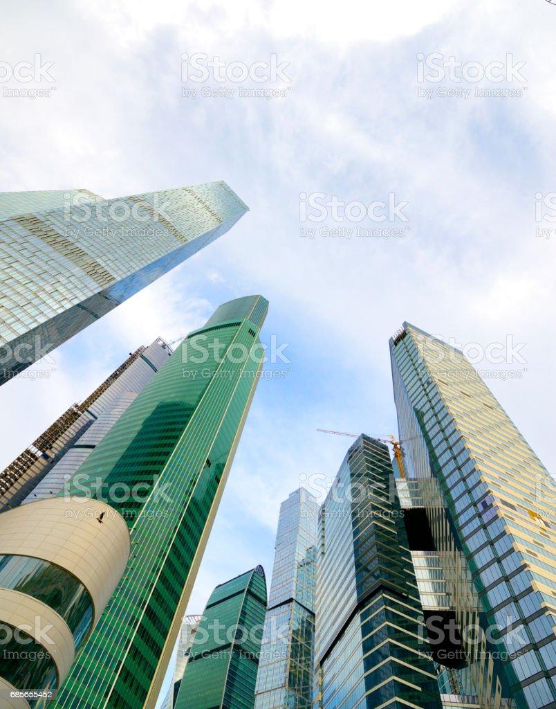 モスクワ市内の建物低視野角 ロイヤリティフリーストックフォト