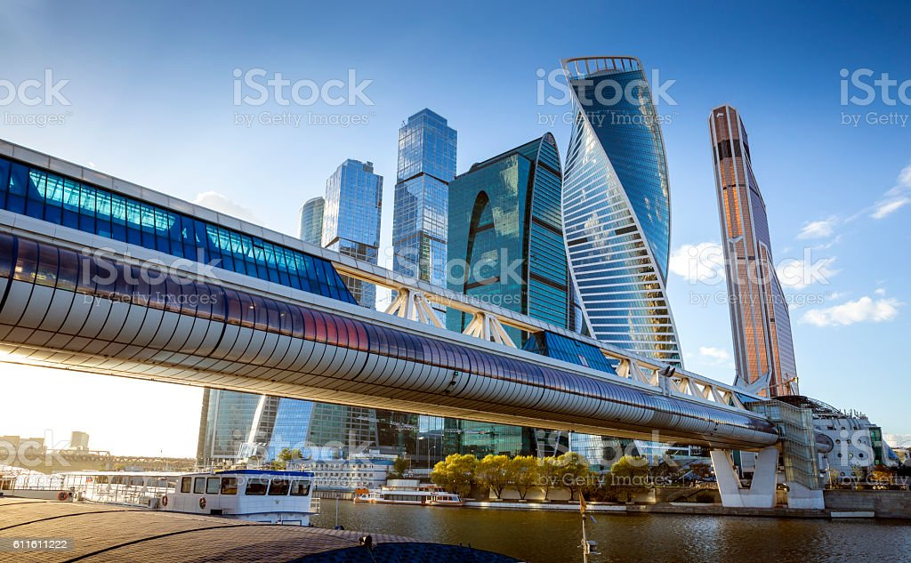 Moscow City International Business Center in Russia stock photo