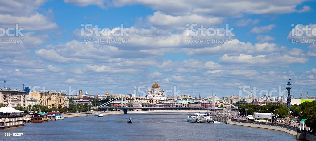 Moscow in summer day, Russia stock photo