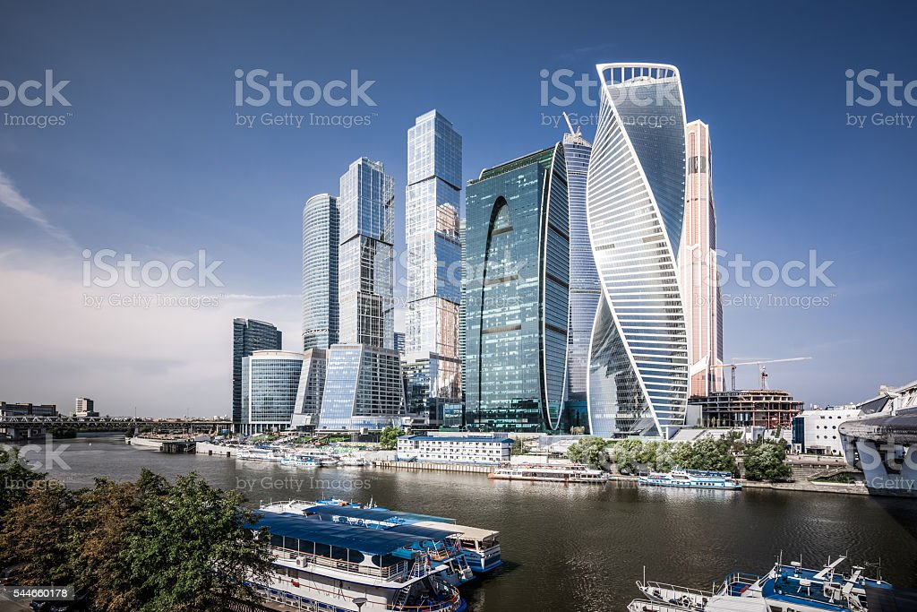 Moscow International Business Center stock photo