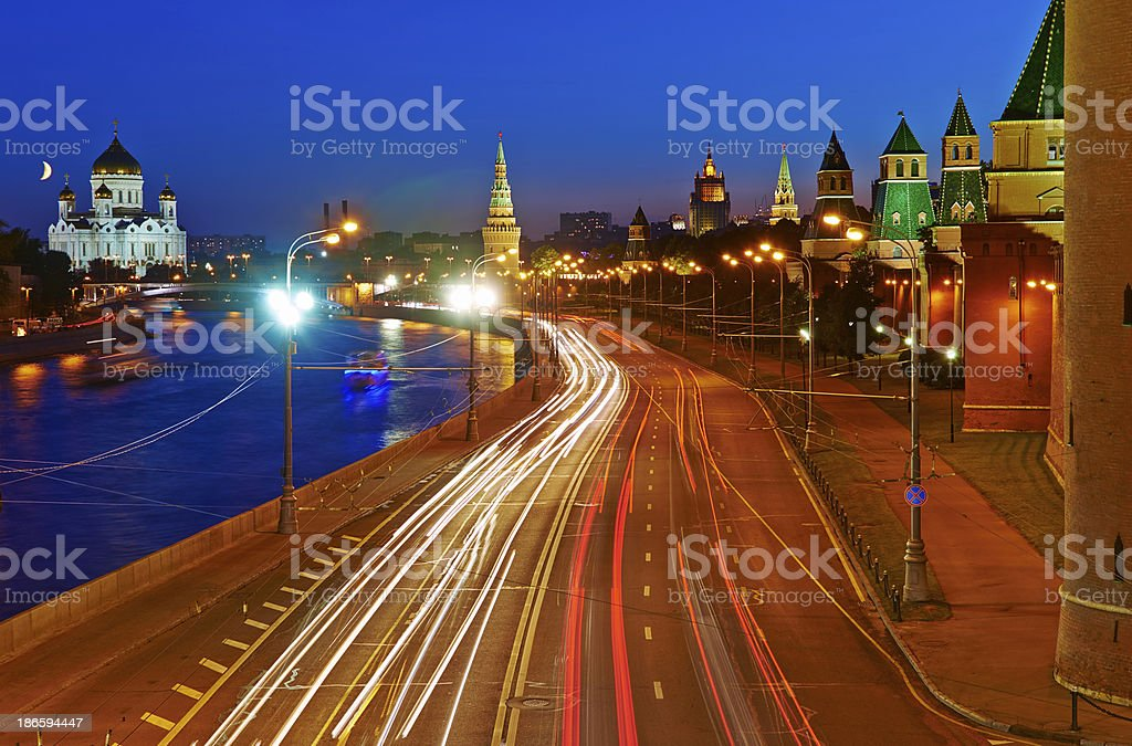 Moscow Kremlim and embankment. royalty-free stock photo