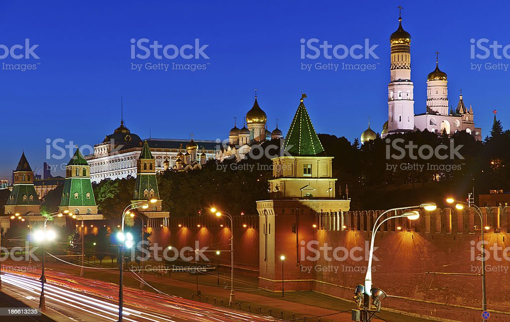 Moscow Kremlim and embankment. royalty-free stock photo