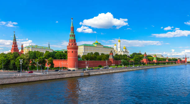 Cтоковое фото Moscow Kremlin and Moscow River on a sunny day