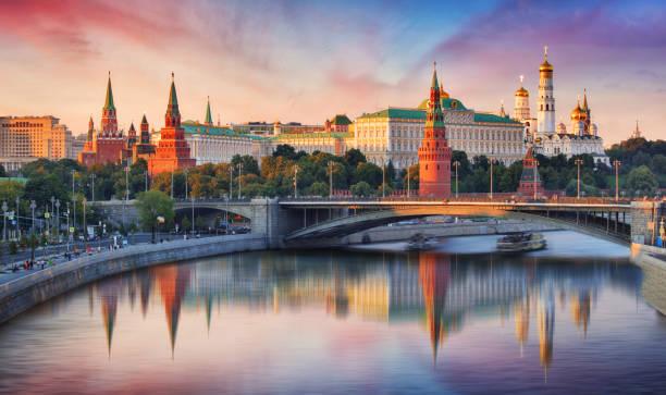 Moskau, Kreml und Moskwa, Russland – Foto