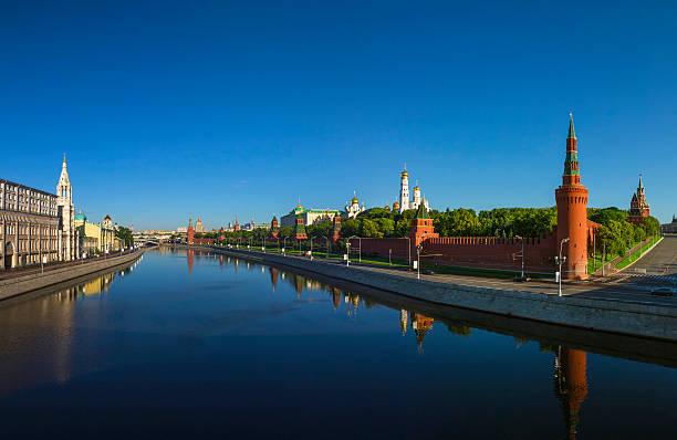 Cтоковое фото Московский Кремль на рассвете, Кремль Дамба