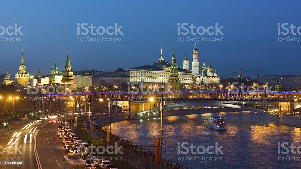 Moscow, Kremlin at night royalty-free stock photo