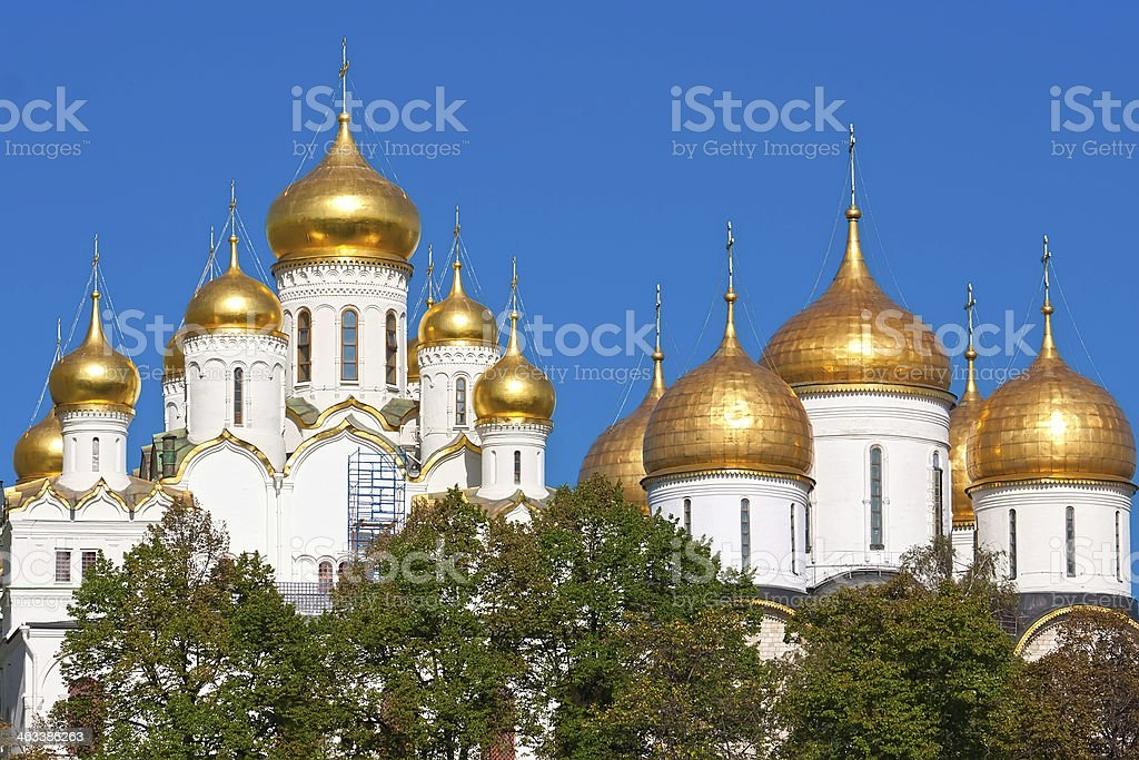 Moscow Kremlin Cathedrals stock photo