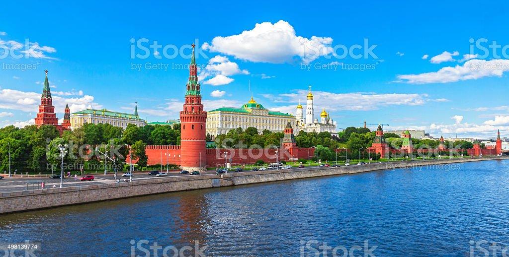 Кремль, Московский Кремль, набережной стоковое фото