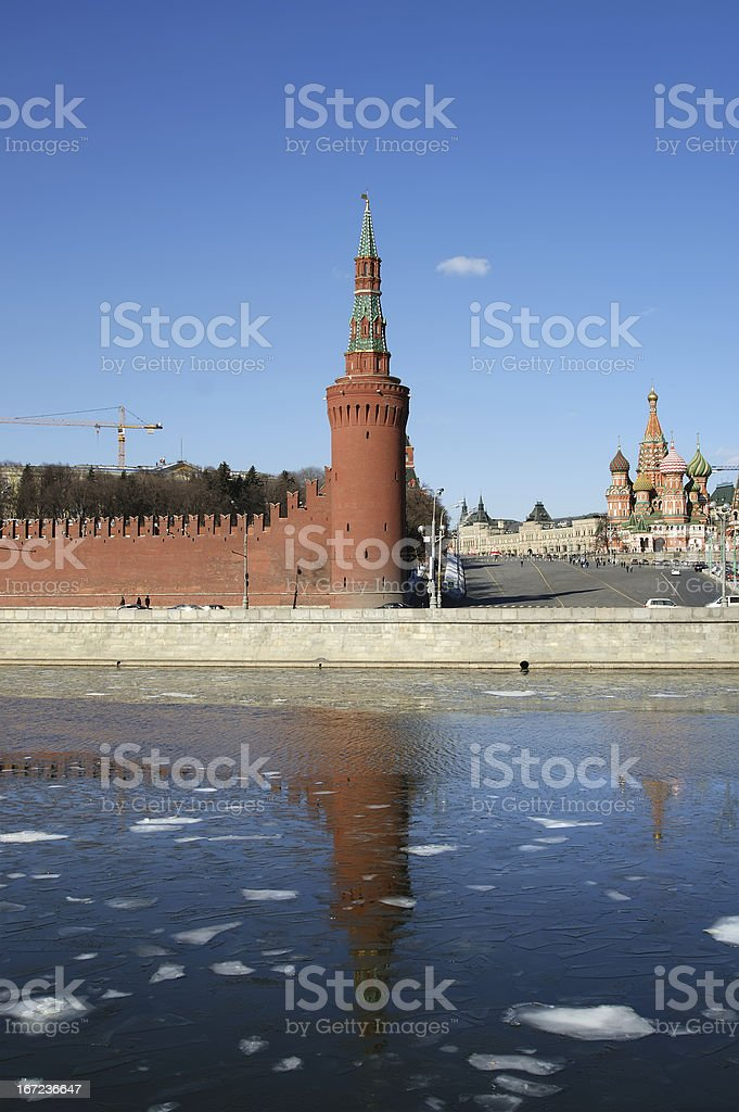Moscow Kremlin on a sunny winter day, Russia royalty-free stock photo