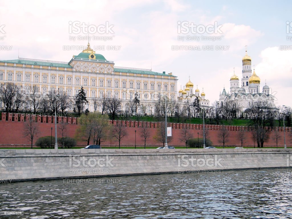 Moscow Kremlin Palace and Cathedrals 2011 stock photo