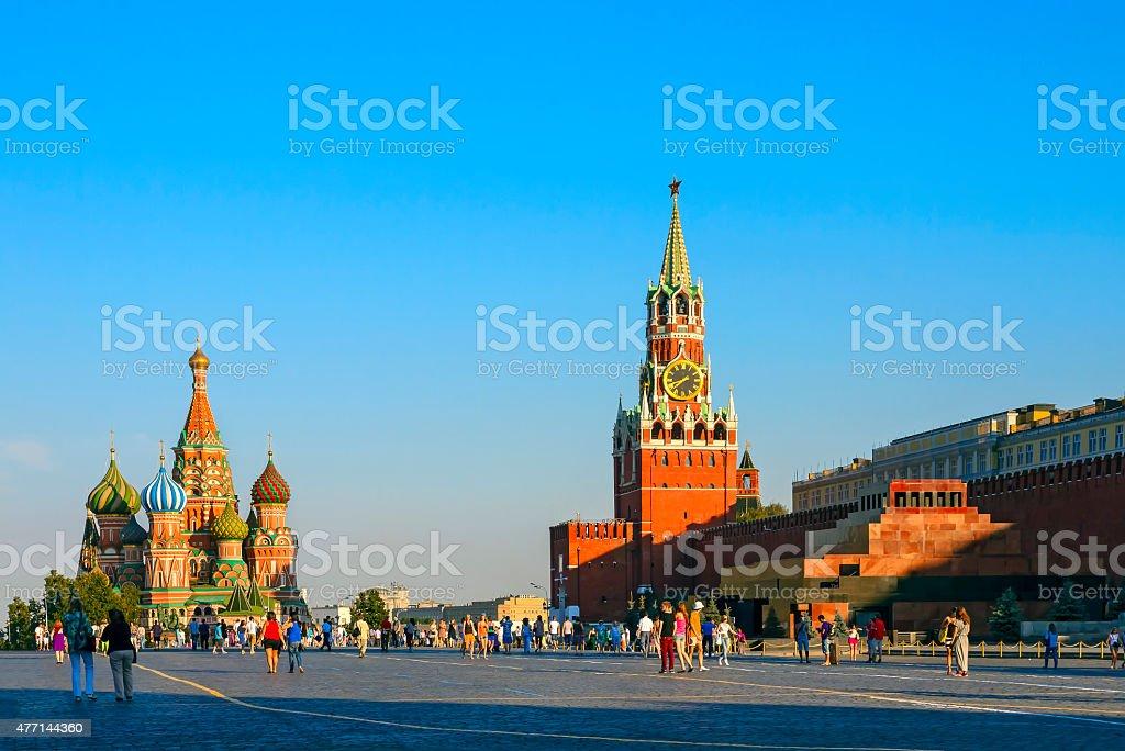 Московский Кремль, Красную площадь, Собор Василия Блаженного стоковое фото
