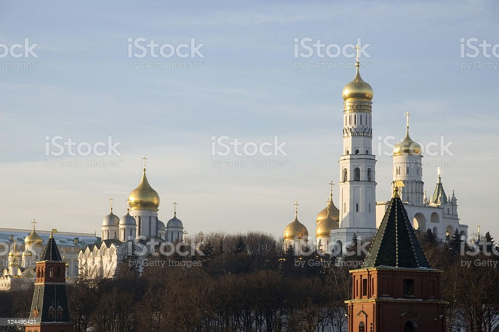 Moscow Kremlin Russia on winter royalty-free stock photo
