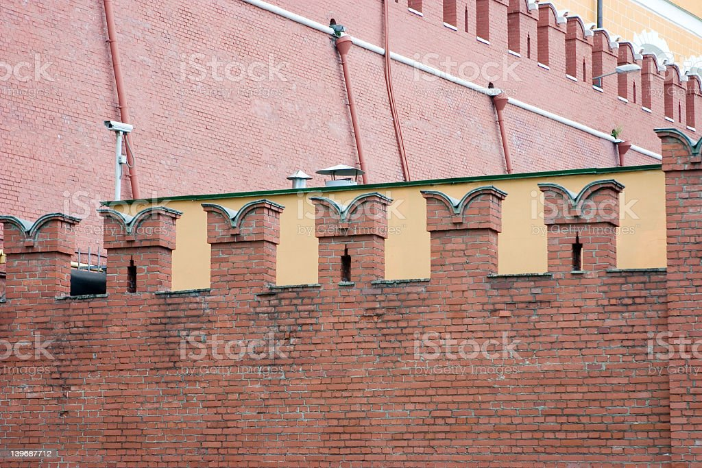 Moscow Kremlin wall royalty-free stock photo