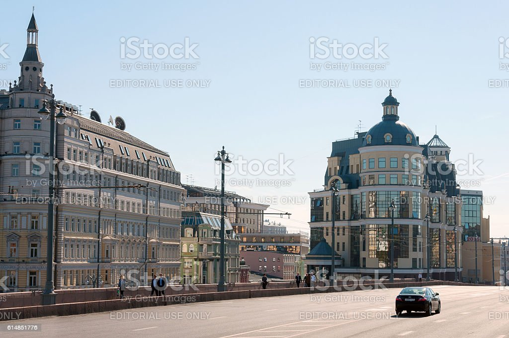 Moscow Main Territorial Department of Central Bank of  Russian Federation stock photo