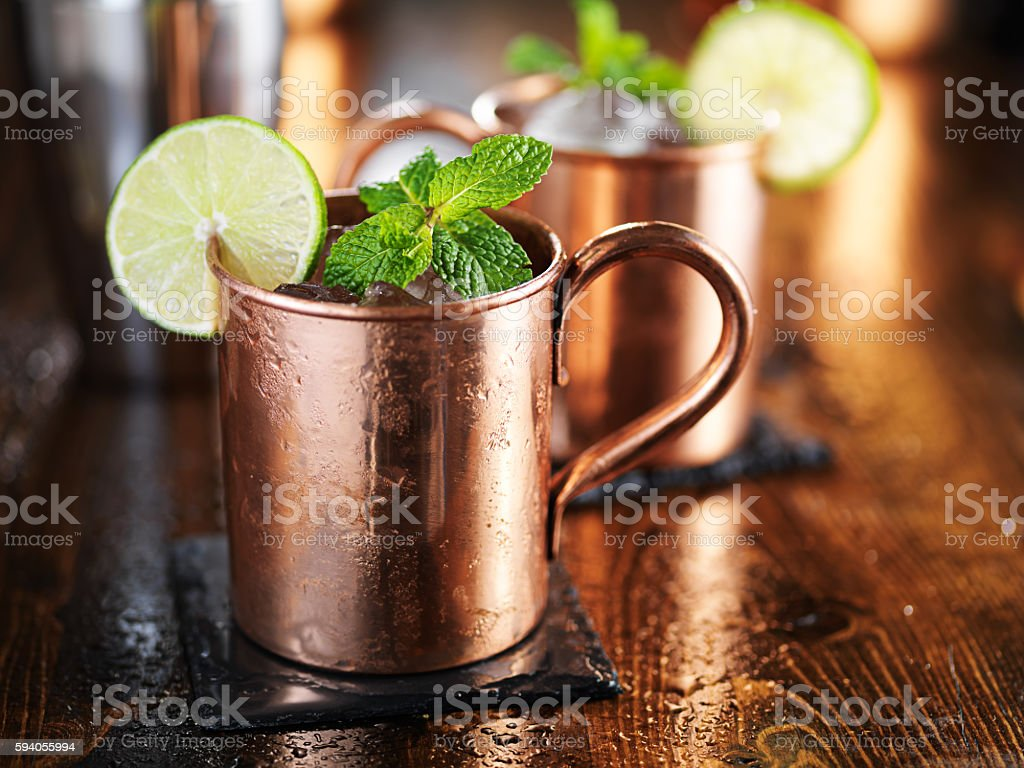 moscow mule cocktail stock photo
