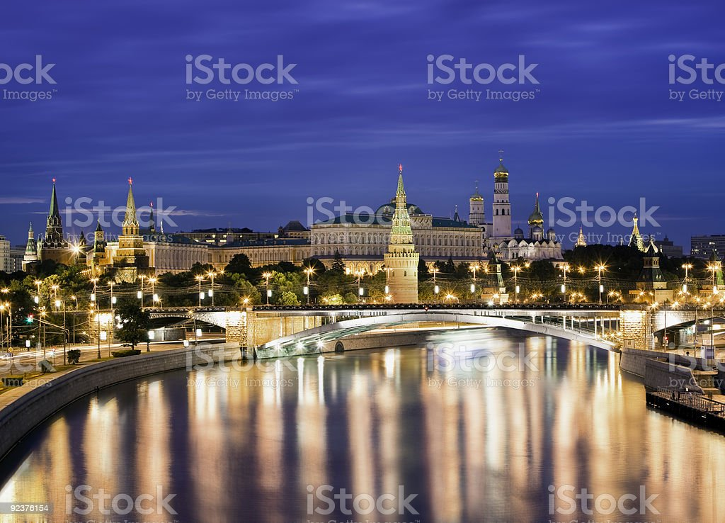 Moscow Nights royalty-free stock photo