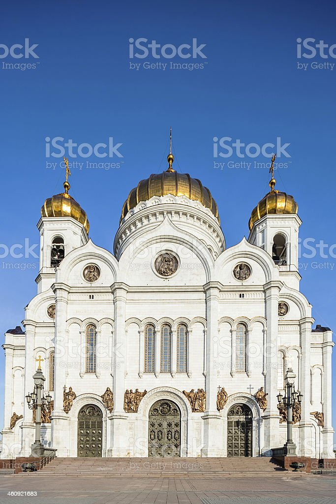 Moscow Orthodox Cathedral of Christ the Saviour stock photo