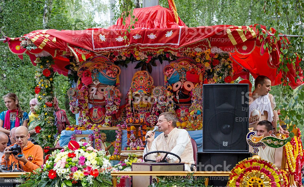 "Moscow, Russia -€"" August  14, 2016: Ratha Yatra. stock photo"