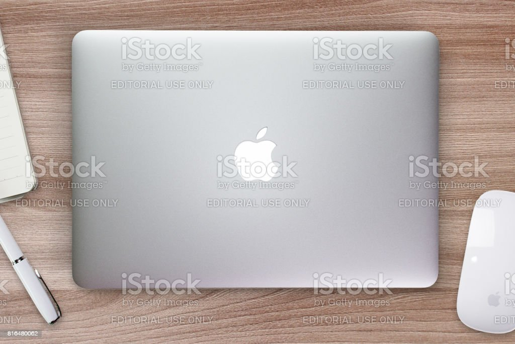 Moscow, Russia - July 10, 2017 Apple Macbook Pro Retina. stock photo