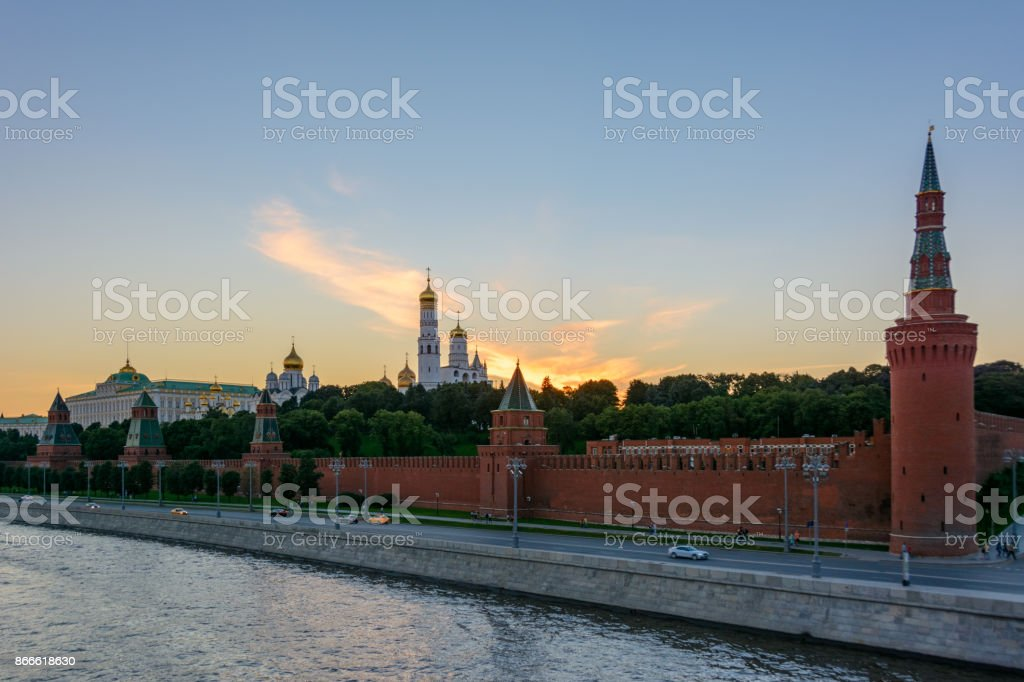 Moscow, Russia. Moscow Kremlin on the Kremlin embankment. stock photo