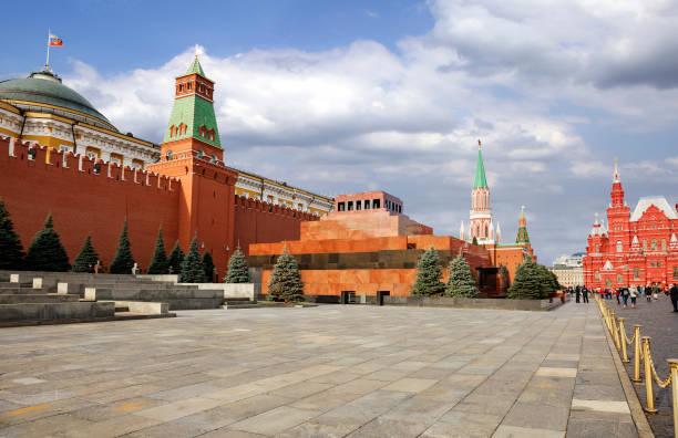 Moskau, Russland, Roter Platz. Kreml-Wand. Mausoleum von Wladimir Lenin. – Foto