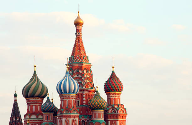 Moscow Russia St.Basil Cathedral stock photo