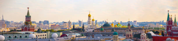 moscow skyline - russia stock pictures, royalty-free photos & images