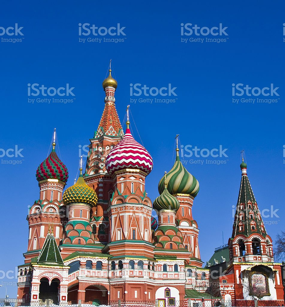 Moscow, St. Basil's (Pokrovskiy, Intercession) cathedral royalty-free stock photo