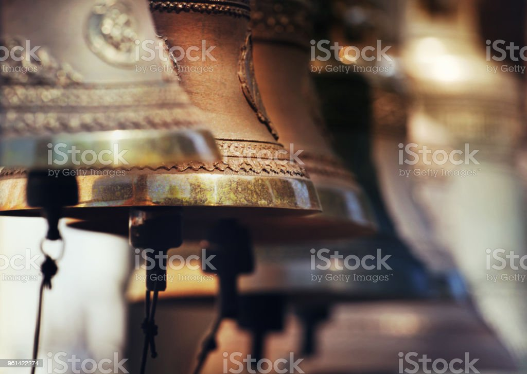 Moscow tower church bells stock photo