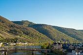 istock Mosel or Moselle valley wineyard views in spring. German wine growing area. 1156784681