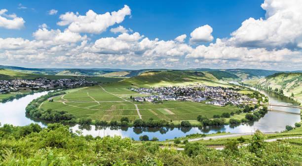 Moselschleife in Trittenheim Rheinland-Pfalz Deutschland – Foto