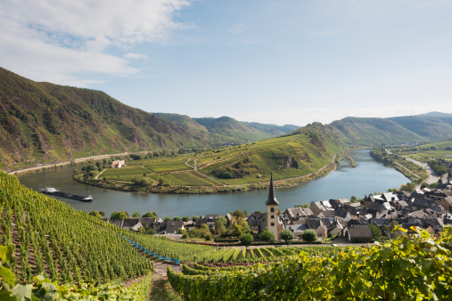Moselle loop , Moselschleife, Bremm, Cochem , Germany