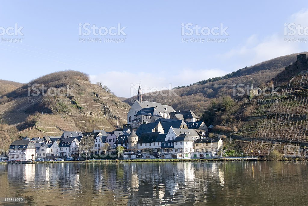 Mosel river stock photo