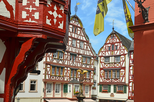 Moselle Valley Germany: Old town of Bernkastel-Kues, Timbered Houses