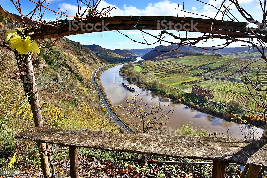 Moseltal im Herbst stock photo