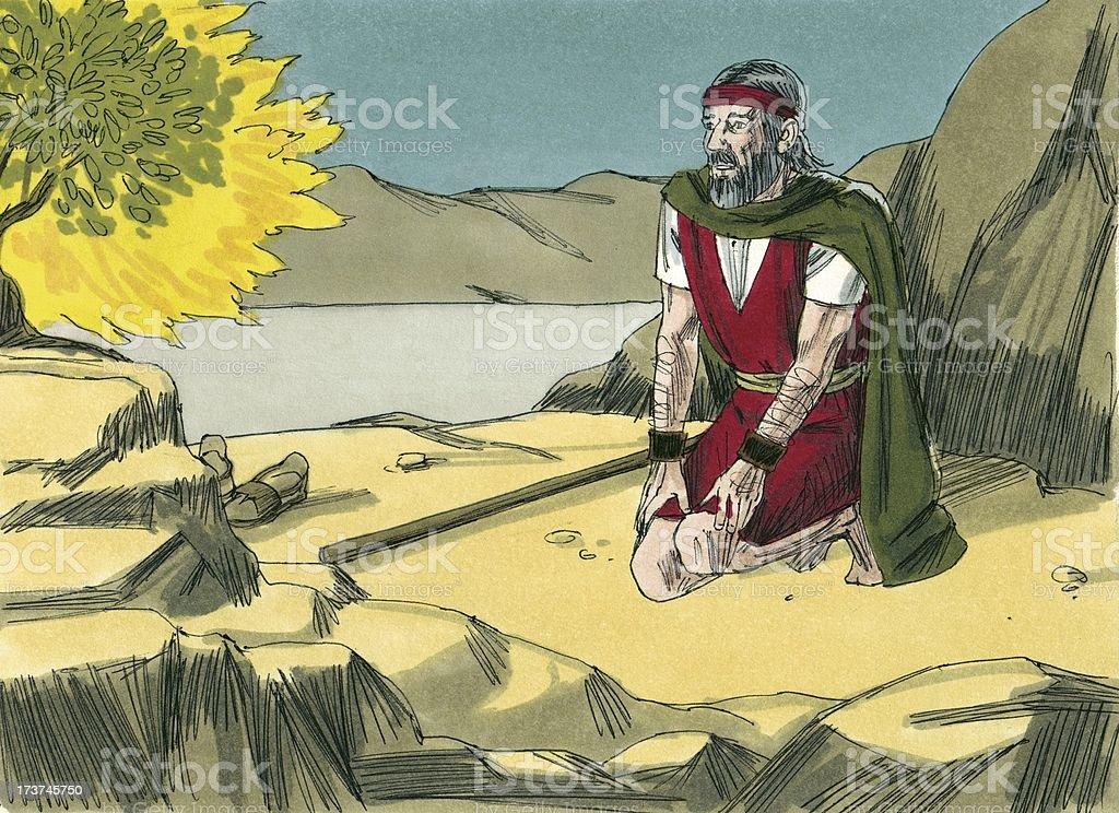 Moses, Burning Bush, God stock photo