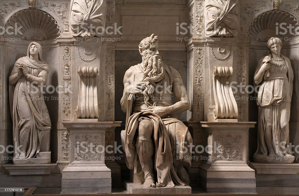 Moses by Michelangelo stock photo