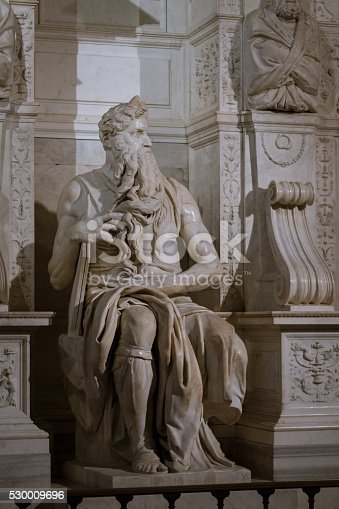 974882202 istock photo Moses by Michelangelo 530009696