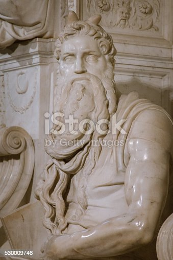 974882202 istock photo Moses by Michelangelo 530009746