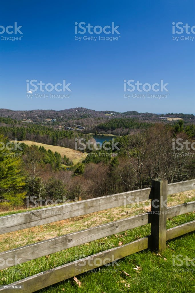 Moses Cone Memorial Park, Blue Ridge Parkway, North Carolina stock photo